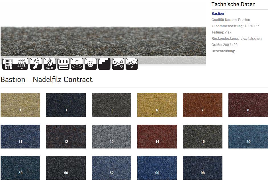 Nadelfilz teppichboden  Teppich-Dahmen Shop - Nadelfilz-Teppichboden Bastion