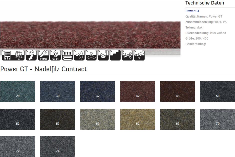 Nadelfilz teppichboden  Teppich-Dahmen Shop - Nadelfilz-Teppichboden Power GT